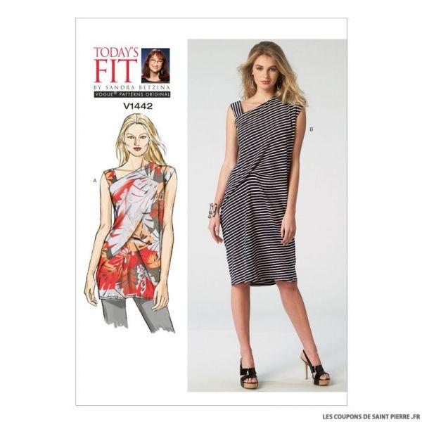 Patron Vogue V1442 : Tunique et robe