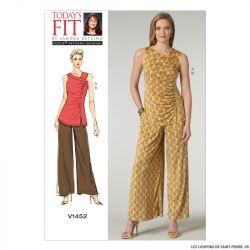 Patron Vogue V1452 : Haut et pantalon
