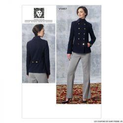 Patron Vogue V1467 : Veste et pantalon