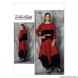 Patron Vogue V1472 : Haut et jupe