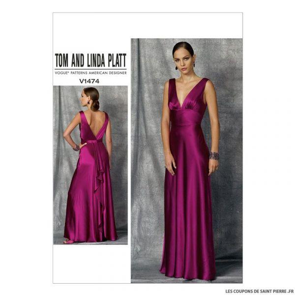 Patron Vogue V1474 : Robe