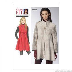 Patron Vogue V1494 : Manteau et gilet