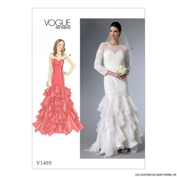 Patron Vogue V1495 : Robe