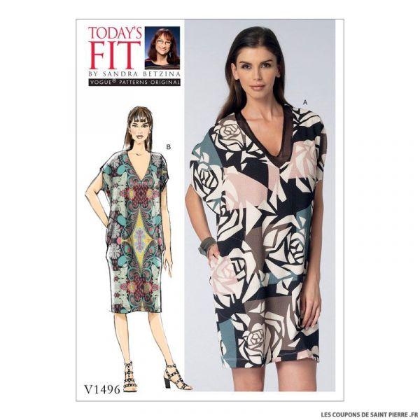 Patron Vogue V1496 : Robe