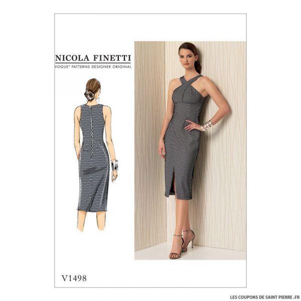 Patron Vogue V1498 : Robe
