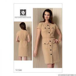 Patron Vogue V1500 : Robe et ceinture