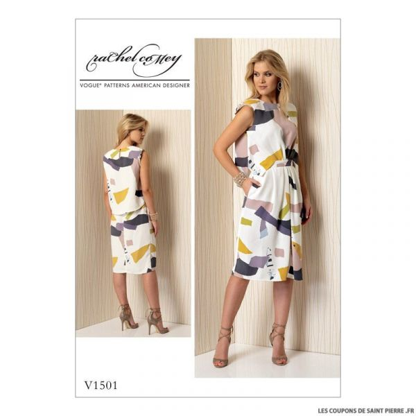 Patron Vogue V1501 : Robe