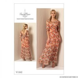 Patron Vogue V1502 : Robe