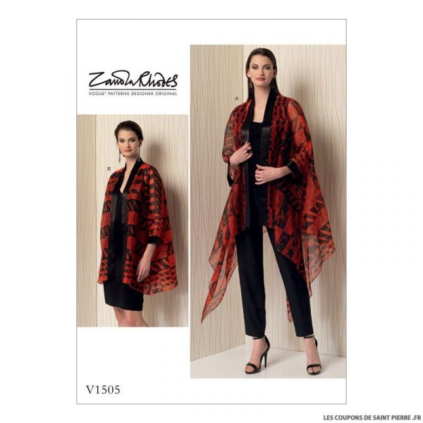Patron Vogue V1505 : Veste