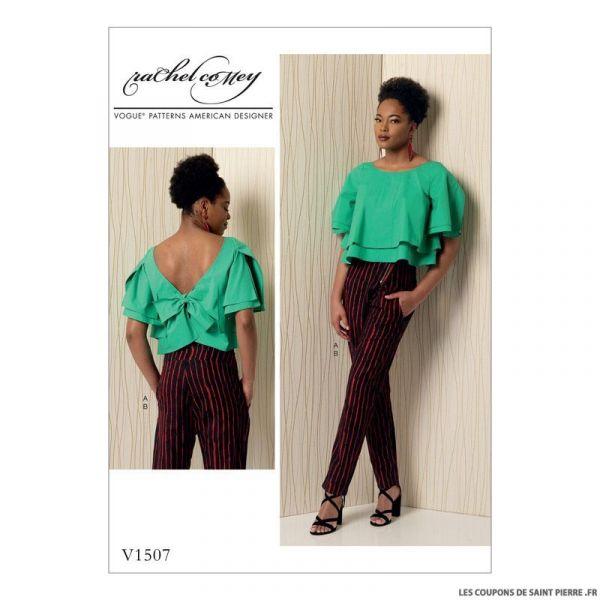 Patron Vogue V1507 : Haut et pantalon
