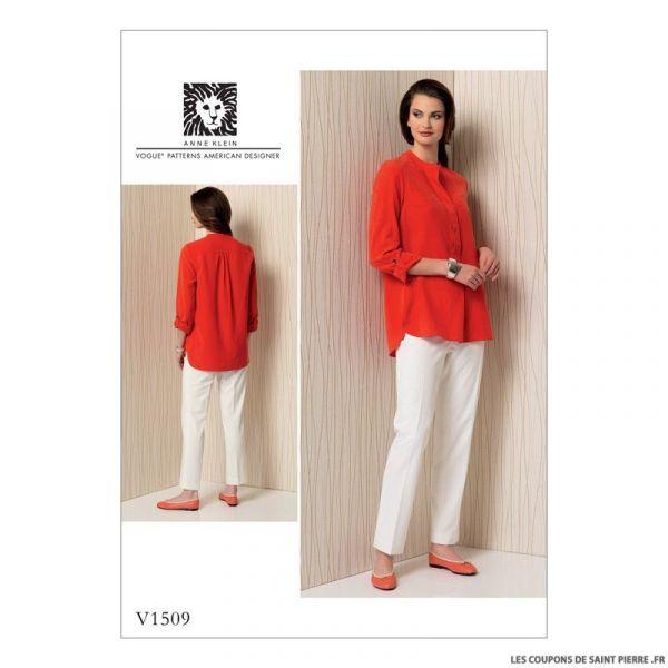 Patron Vogue V1509 : Tunique et pantalon