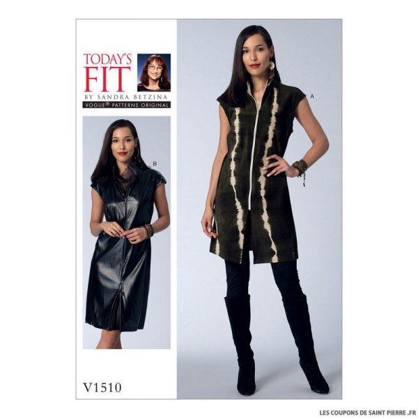 Patron Vogue V1510 : Tunique et robe