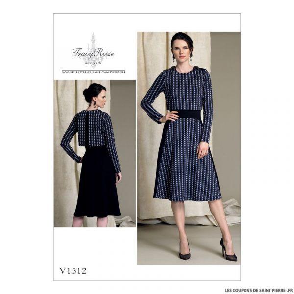 Patron Vogue V1512 : Robe