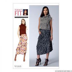 Patron Vogue V1515 : Haut et jupe