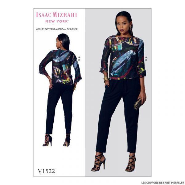 Patron Vogue V1522 : Haut et pantalon