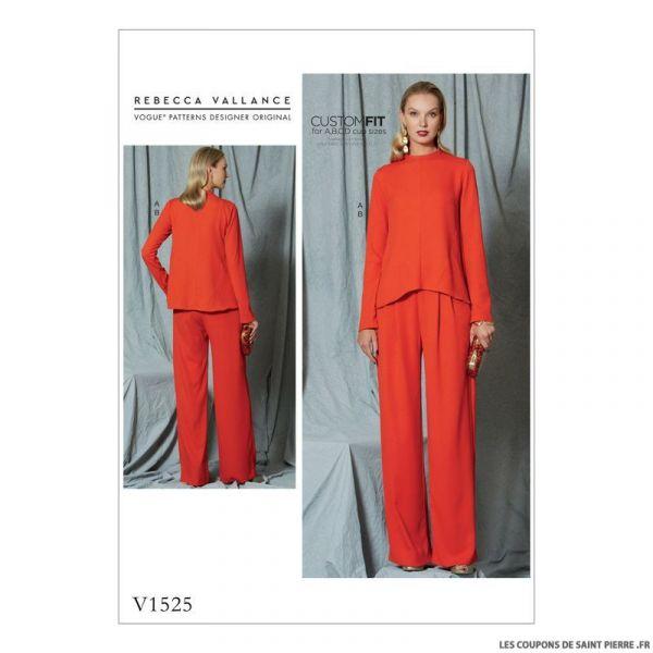 Patron Vogue V1525 : Haut et pantalon
