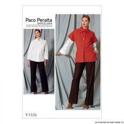 Patron Vogue V1526 : Veste, chemise et pantalon