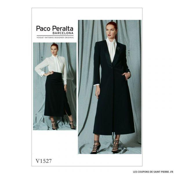 Patron Vogue V1527 : Veste, chemisier et jupe