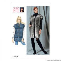 Patron Vogue V1528 : Gilet
