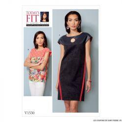 Patron Vogue V1530 : Robe et haut