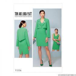Patron Vogue V1536 : Veste et robe