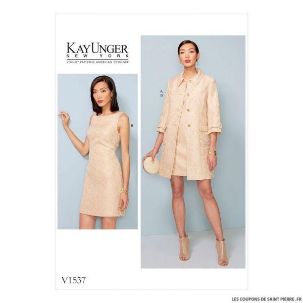 Patron Vogue V1537 : Veste et robe