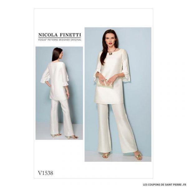 Patron Vogue V1538 : Tunique et combinaison
