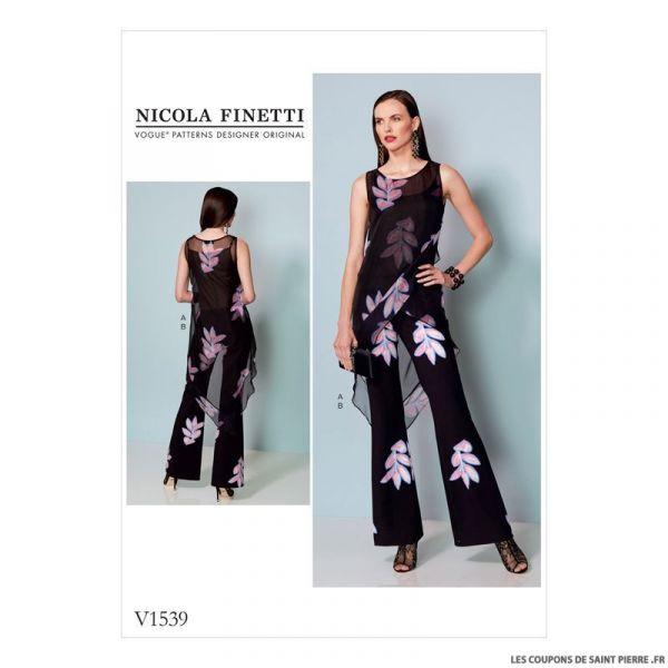 Patron Vogue V1539 : Tunique et combinaison