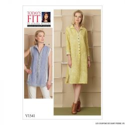 Patron Vogue V1541 : Robe et chemise