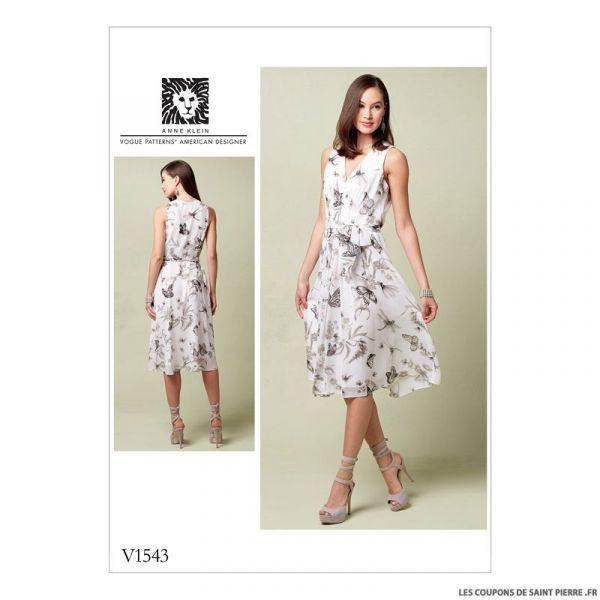 Patron Vogue V1543 : Robe et ceinture