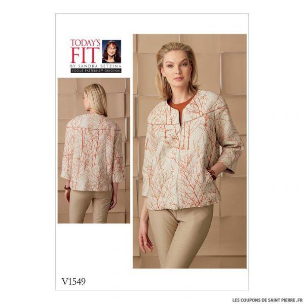 Patron Vogue V1549 : Veste