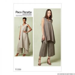 Patron Vogue V1550 : Tunique et pantalon