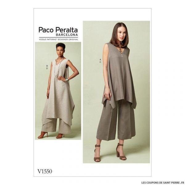 Patron Vogue V1550 : Tunique et pantalon
