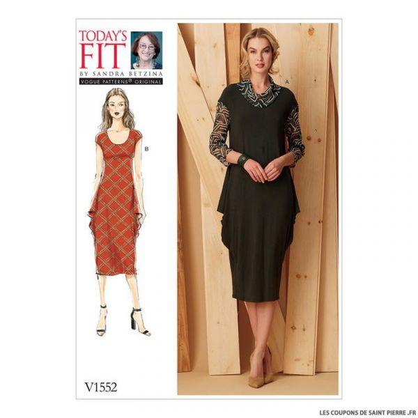 Patron Vogue V1552 : Robe