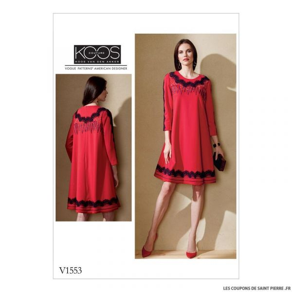 Patron Vogue V1553 : Robe