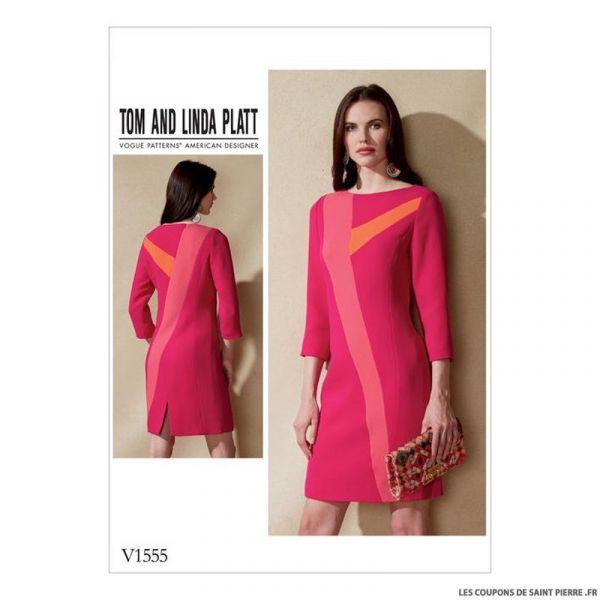 Patron Vogue V1555 : Robe
