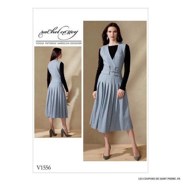 Patron Vogue V1556 : Robe et ceinture