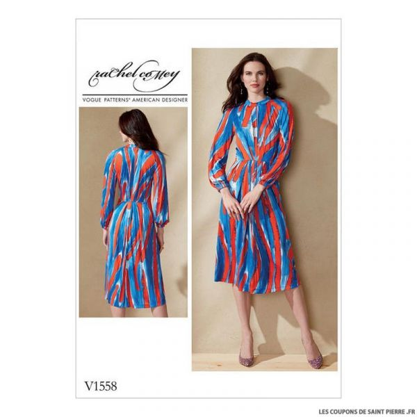 Patron Vogue V1558 : Robe