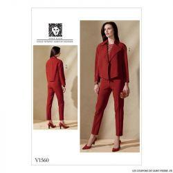 Patron Vogue V1560 : Veste et pantalon