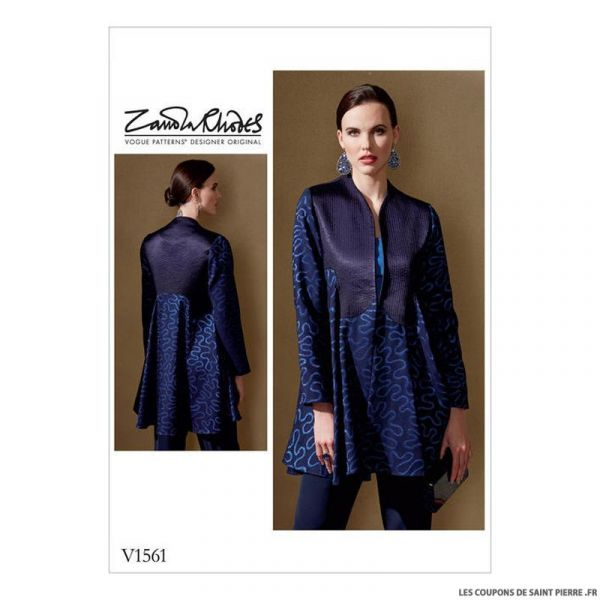 Patron Vogue V1561 : Veste