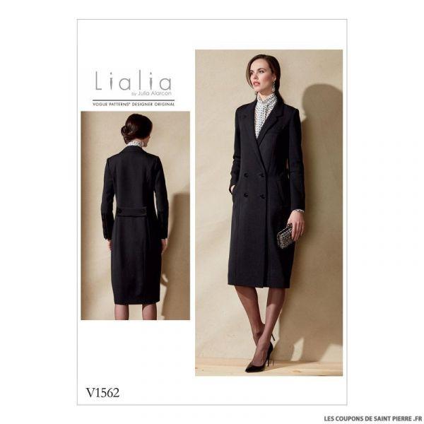 patron vogue v1562 manteau coupons de saint pierre. Black Bedroom Furniture Sets. Home Design Ideas