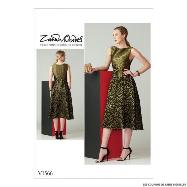 Patron Vogue V1566 : Robe