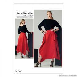 Patron Vogue V1567 : Haut et jupe