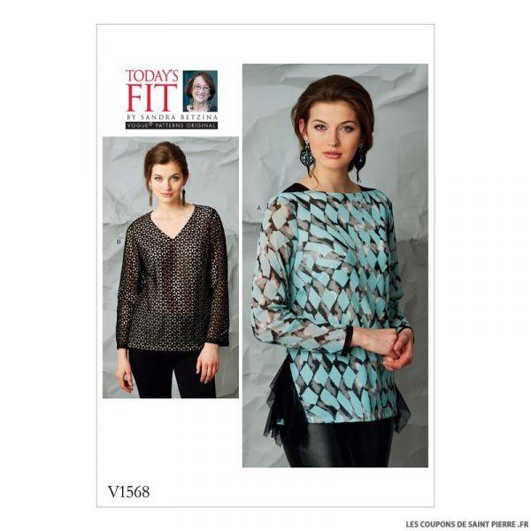 Patron Vogue V1568 : Haut