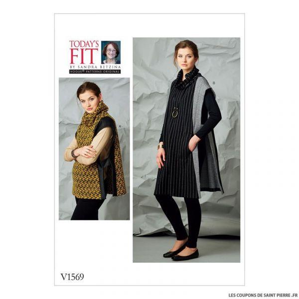 Patron Vogue V1569 : Cape
