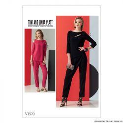 Patron Vogue V1570 : Haut et pantalon