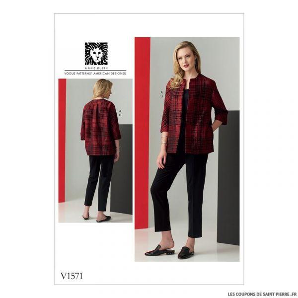 Patron Vogue V1571 : Veste et pantalon
