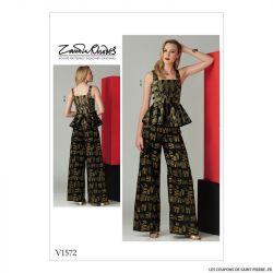 Patron Vogue V1572 : Haut et pantalon