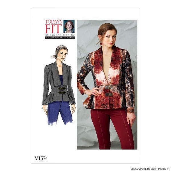 Patron Vogue V1574 : Veste