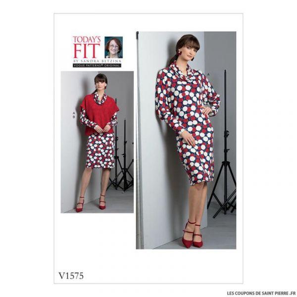 Patron Vogue V1575 : Robe et haut
